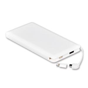 モバイルバッテリー 新型モデル 大容量 iPhone アンドロイド対応 軽量 薄型 10000mAh コード付き2台同時充電可能 送料無料 2A急速充電 セール tabtab 17