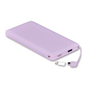 モバイルバッテリー 新型モデル 大容量 iPhone アンドロイド対応 軽量 薄型 10000mAh コード付き2台同時充電可能 送料無料 2A急速充電 セール tabtab 21