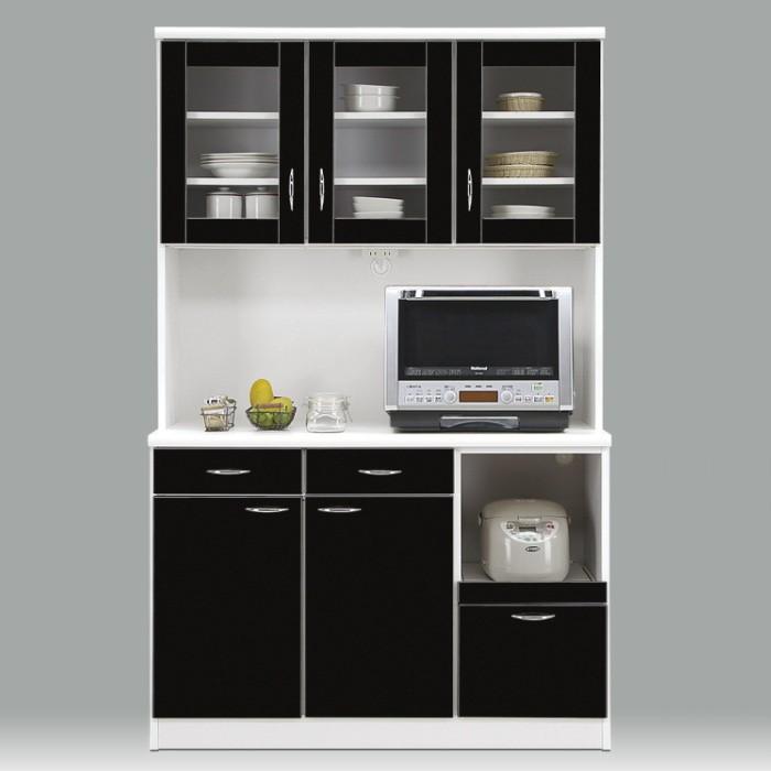 国産アウトレット食器棚レンジボードキッチンボードキッチン収納ハイグロス鏡面仕上げ艶あり完成品激安 幅120cm