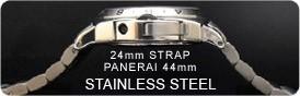 24mm SPECIAL EDITION ステンレススチール パネライ44mm