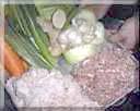 挽肉と野菜入れ