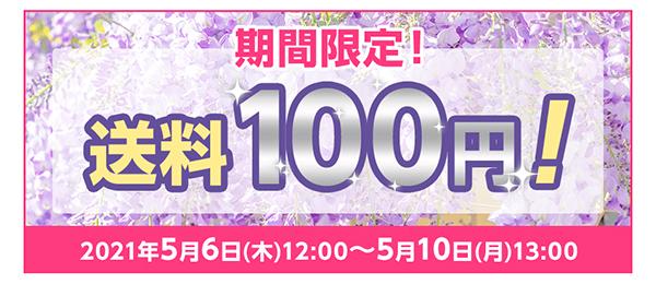 送料100円キャンペーン5月10日まで