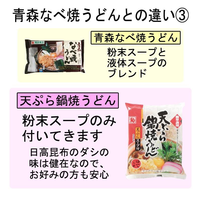 青森なべ焼うどんとの違い(3)