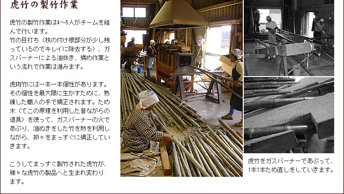 虎竹の製竹作業