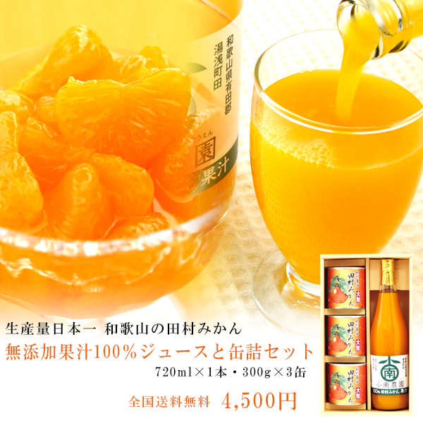 みかん缶詰・ジュースセット