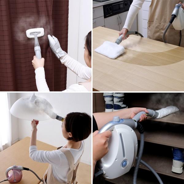 アイリスオーヤマ コンパクトスチームクリーナー STP-101N 掃除シーン
