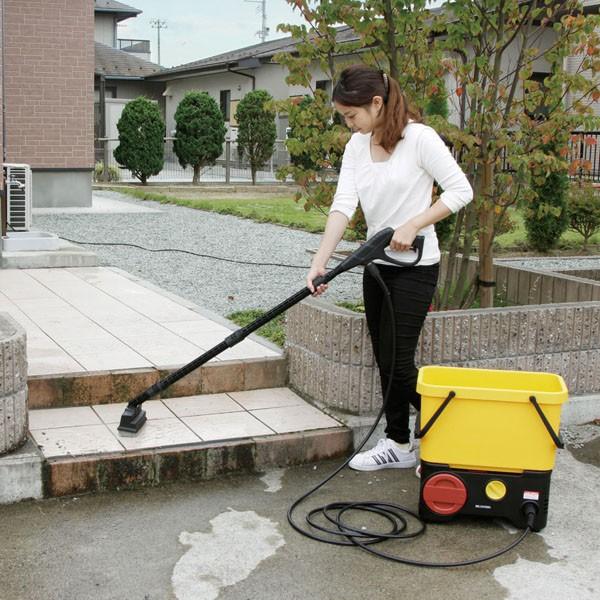 タンク式高圧洗浄機充電タイプデッキブラシセット SDT-L01V 黄/黒