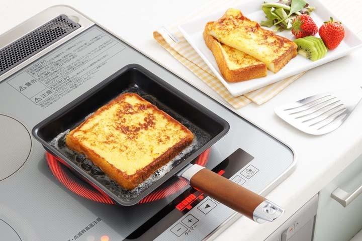 卵焼き器玉子焼き器IH対応日本製キッチン用品ヨシカワIH対応ワイド玉子焼き