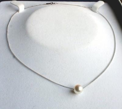 アコヤ真珠1粒ネックレス