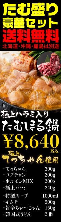 ホルモン全入り700gと極上ハラミ入りの豪華たむほる鍋セット