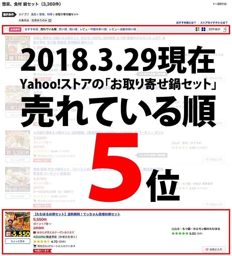 Yahoo!売れ筋ランキング