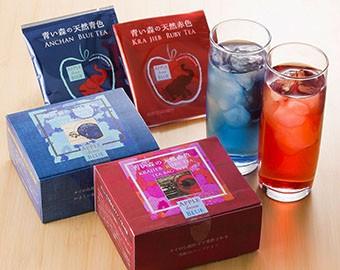 青い森の天然青色・アンチャンティー・青いお茶