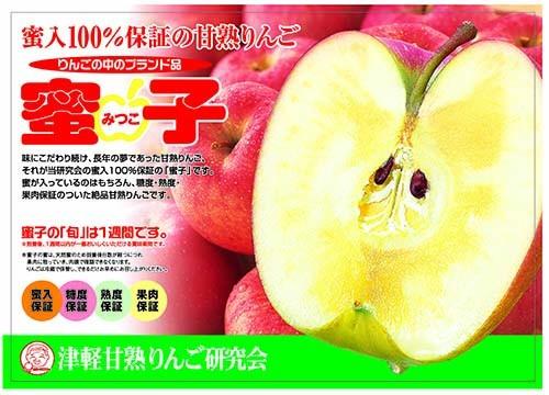 津軽甘熟りんご研究会・蜜入りサンふじ・蜜子・青森県産