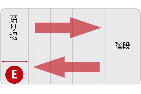 搬入経路の確認ポイント 階段 E