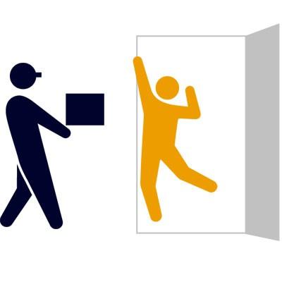 玄関での受け渡しのイメージ