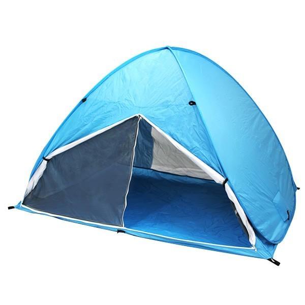 ワンタッチテント サンシェードテント フルクローズ 簡単 ドームテント UV 海水浴 キャンプ用品 前後メッシュスクリーンタイプ tantobazarshop 18
