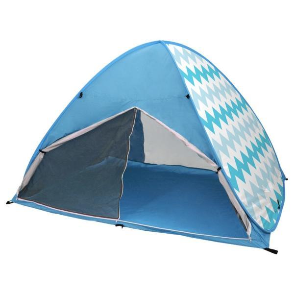ワンタッチテント サンシェードテント フルクローズ 簡単 ドームテント UV 海水浴 キャンプ用品 前後メッシュスクリーンタイプ tantobazarshop 23