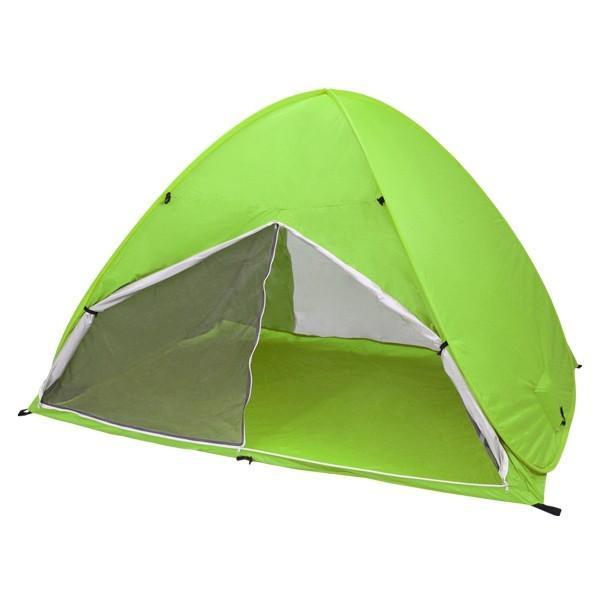 ワンタッチテント サンシェードテント フルクローズ 簡単 ドームテント UV 海水浴 キャンプ用品 前後メッシュスクリーンタイプ tantobazarshop 21