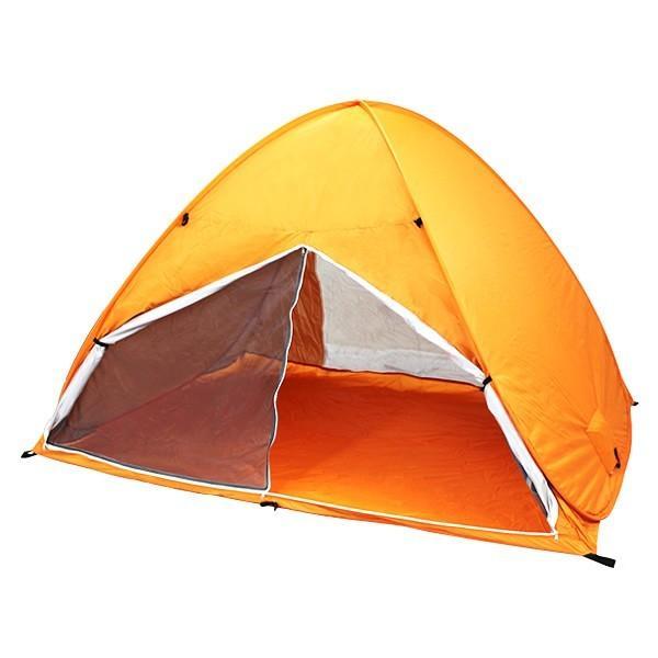 ワンタッチテント サンシェードテント フルクローズ 簡単 ドームテント UV 海水浴 キャンプ用品 前後メッシュスクリーンタイプ tantobazarshop 17