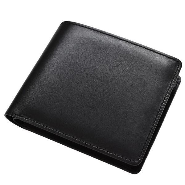 財布 二つ折り財布 日本製 本革 ボックスカーフ 小銭入れ付き (全3色) TAVARAT Tps-072  ラッピング無料|tavarat|20