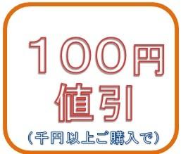 1000円以上で100円値引き