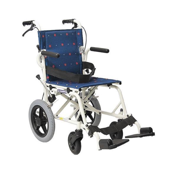 車椅子 軽量 折りたたみ コンパクト (車いす、車イス) 携帯用 旅ぐるまKA6(介護用 介助用 車いす 外出用 アルミ)|tc-mart|09