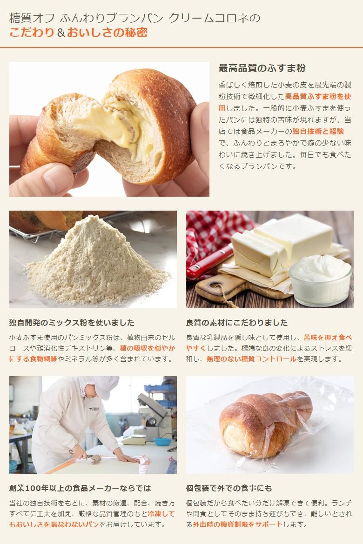 糖質オフ ふんわりブランパン クリームコロネのこだわり&おいしさの秘密