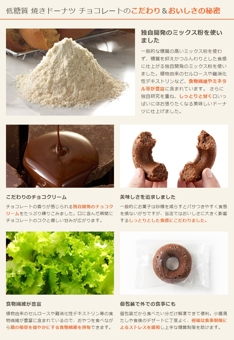 低糖質 焼きドーナツ チョコレートのこだわり&おいしさの秘密