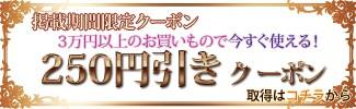 【掲載期間限定】3万円以上お買い上げで使えるクーポン