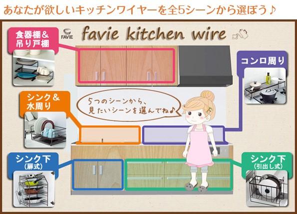 あなたが欲しいキッチンワイヤーを全5シーンから選ぼう♪