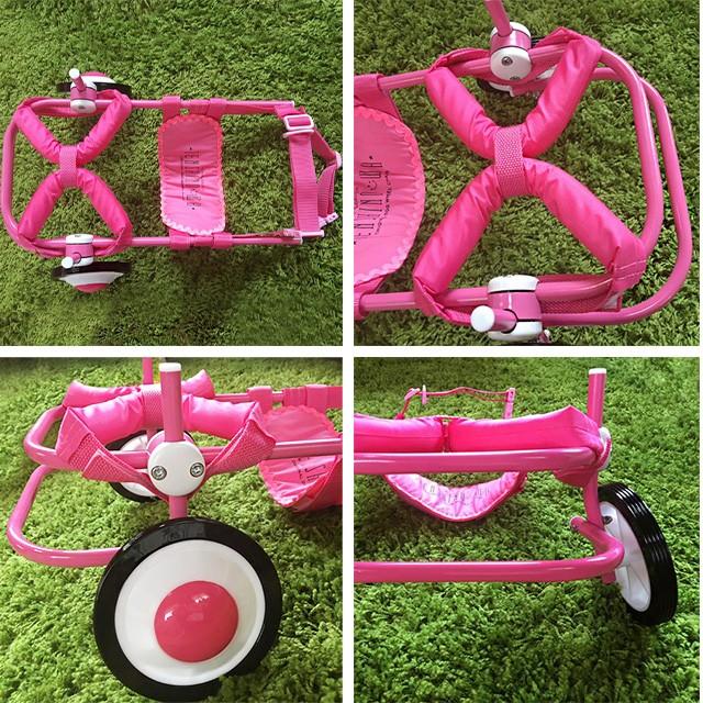 車椅子ピンク