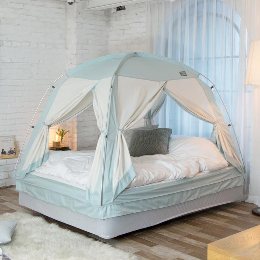 タスミ 4door 暖房テント Sサイズ 室内テント コットン質感 洗える コンパクト収納 ハウスダスト対策 花粉対策 感染症予防対策 IDOOGEN 正規輸入品 天蓋 tentya 11
