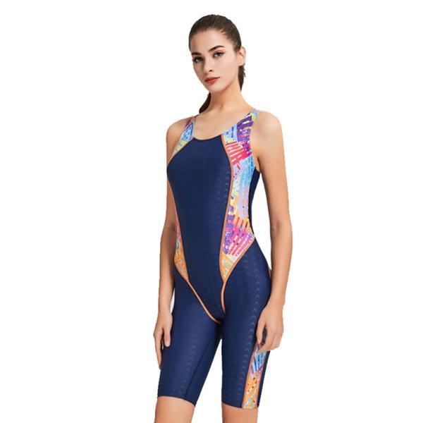 競泳水着 レディース パッド付き フィットネス水着 ワンピース 女性 練習用 トレーニング用 スイムウェア 大きいサイズ 水泳 スポーツ水着 6069|tfashion|15