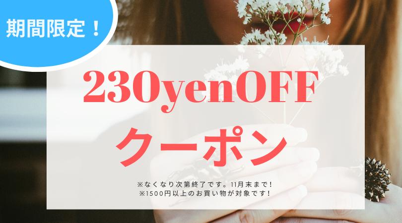 期間限定で230円オフクーポン発行!!