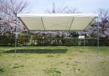 ステージ用4本柱片流れテント