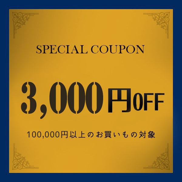 【日曜日限定】3,000円引きクーポン! お買上げ金額が100,000円(税込)以上対象!