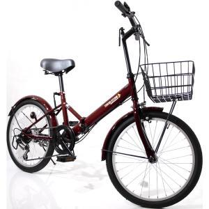 本州送料無料 折りたたみ自転車 20インチ カゴ・ライト・カギ付き シマノ製6段ギア 折り畳み自転車 ミニベロ【AJ-08】 three-stone-ys 24