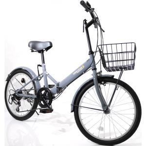 本州送料無料 折りたたみ自転車 20インチ カゴ・ライト・カギ付き シマノ製6段ギア 折り畳み自転車 ミニベロ【AJ-08】 three-stone-ys 27