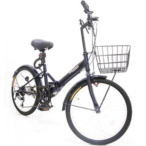 本州送料無料 折りたたみ自転車 20インチ カゴ・ライト・カギ付き シマノ製6段ギア 折り畳み自転車 ミニベロ【AJ-08】 three-stone-ys 28