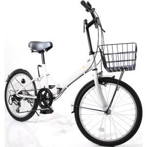 本州送料無料 折りたたみ自転車 20インチ カゴ・ライト・カギ付き シマノ製6段ギア 折り畳み自転車 ミニベロ【AJ-08】 three-stone-ys 22
