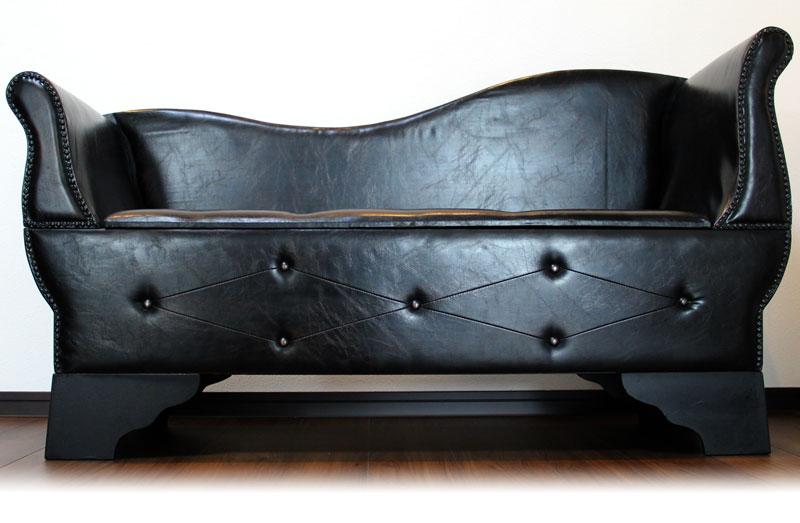 【アンティーク調】2人掛けソファ 大容量の収納を備えた高級感あふれるソファ 【収納付き】