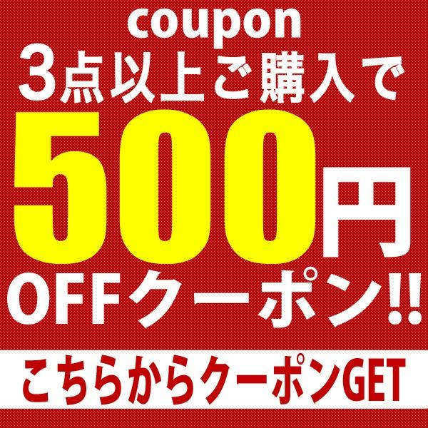 3点購入で500円OFFクーポン