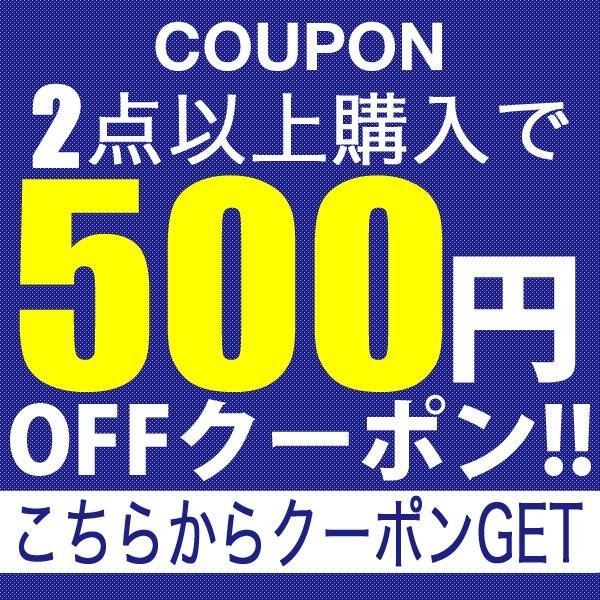 2点購入で500円OFFクーポン