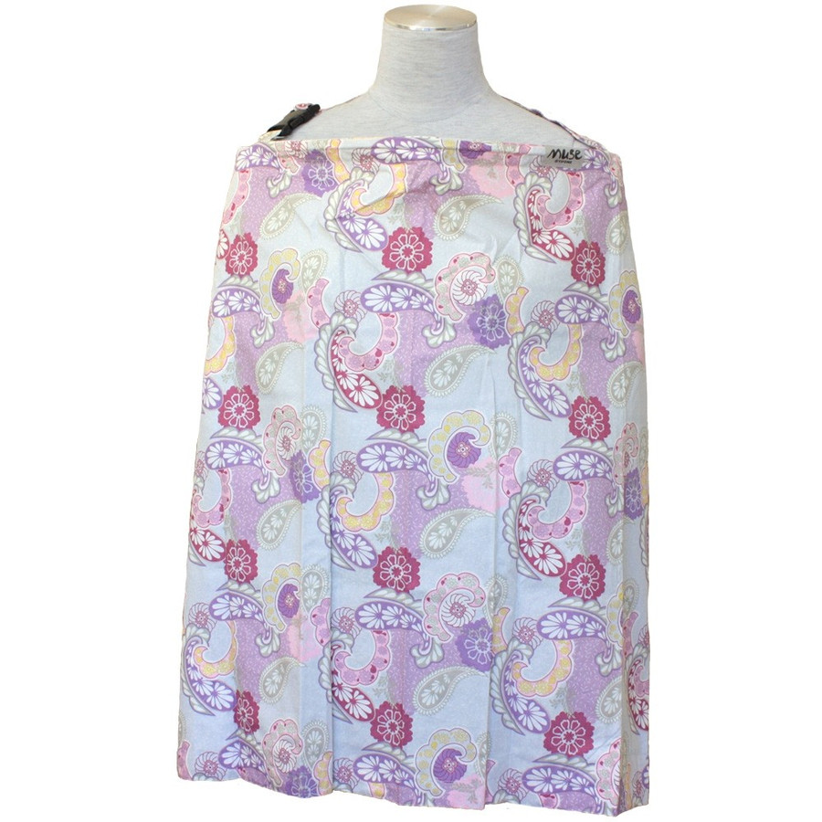 授乳ケープ MUSE(めくれ防止!背面バックル付)4 ワイヤー入り 授乳ケープ ナーシングカバー お口拭き 収納巾着袋 授乳服TA5 tifone 21