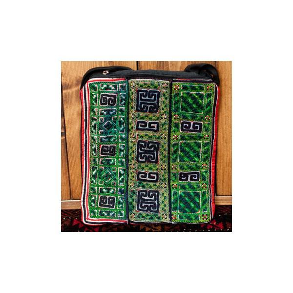 ショルダーバッグ モン族 バック 刺繍 (一点物)モン族刺繍のスクエアショルダーバッグ インド かばん ポーチ エスニック アジア tirakita-shop 26