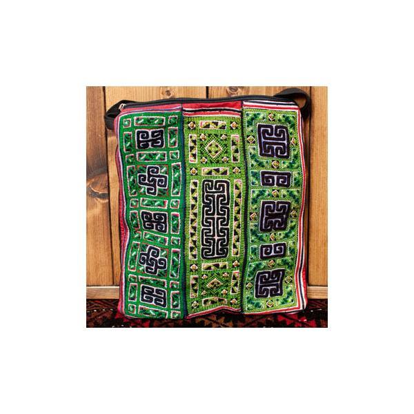 ショルダーバッグ モン族 バック 刺繍 (一点物)モン族刺繍のスクエアショルダーバッグ インド かばん ポーチ エスニック アジア tirakita-shop 29