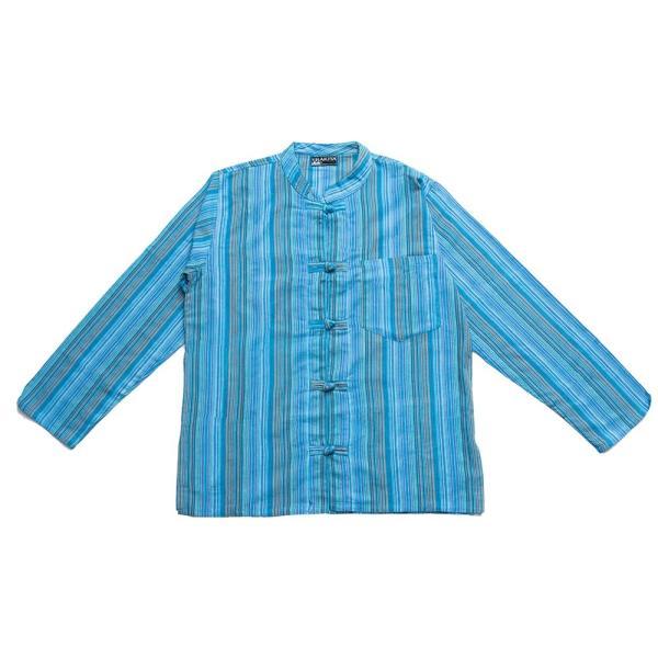長袖ストライプクルタ / 送料無料 男性用シャツ 長袖シャツ レビューでタイカレープレゼント|tirakita-shop|28