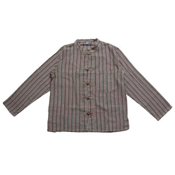 長袖ストライプクルタ / 送料無料 男性用シャツ 長袖シャツ レビューでタイカレープレゼント|tirakita-shop|30