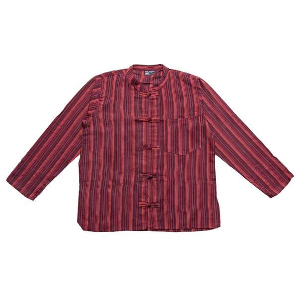 長袖ストライプクルタ / 送料無料 男性用シャツ 長袖シャツ レビューでタイカレープレゼント|tirakita-shop|31