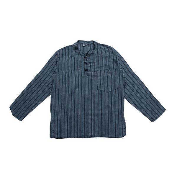 長袖ストライプクルタ / 送料無料 男性用シャツ 長袖シャツ レビューでタイカレープレゼント|tirakita-shop|32